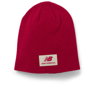 New Balance Unisex Slouch Beanie - Acrylic Red
