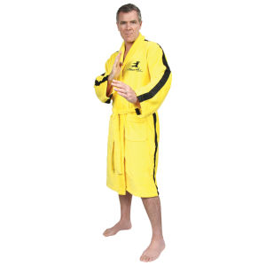 Bruce Lee Towelling Bathrobe - Yellow (One Size)