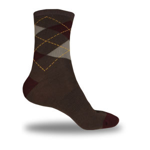 Endura Argyll Cycling Socks Twin Pack - Burgundy