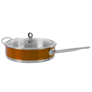 Morphy Richards Accents 28cm Saute Pan with Glass Lid - Copper