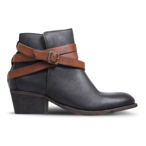 H by Hudson Women's Horrigan Leather Ankle Boots - Black