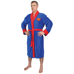 DC Comics Superman Towelling Bathrobe - Blue (One Size)