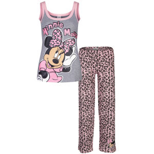 Minnie Mouse Women's Leopard Pyjama Set - Grey & Pink