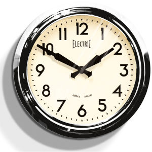 50s Electric Clock - Chrome