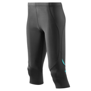 Skins Women's Coldblack 3/4 Tights - Black/Blue