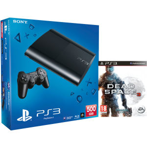 PS3: New Sony PlayStation 3 Slim Console (500 GB) - Black - Includes (Dead Space 3)