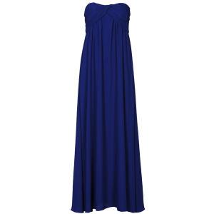 Glamorous Women's Bandeau Maxi Prom Dress - Blue