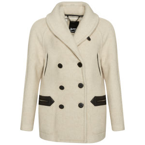Denham Women's Boston Duffel Coat - Opal Ivory