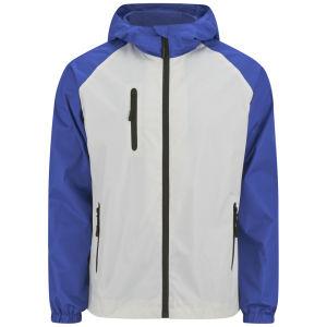 55 Soul Männer Shooter Jacke - Weiß/Kobalt/Marineblau