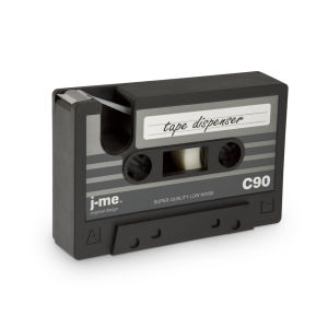 Cassette Shaped Tape Dispenser - Black