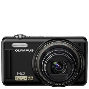 Olympus VR-320 Digital Camera (14MP, 12.5x Super Wide Optical Zoom, 3-Inch LCD) - Black