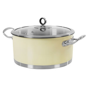 Morphy Richards Accents 24cm Casserole Dish - Cream