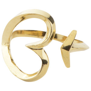 Daisy Knights Heart and Arrow Wrap Ring - Gold