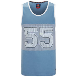 55 Soul Men's Mistral Mesh Vest - Blue/White