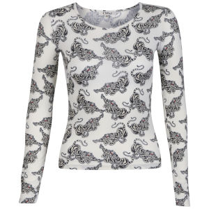 Chloe Women's Tiger Print Long Sleeve Top - Multi