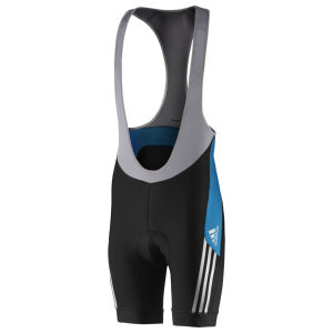 Adidas Supernova Bib Shorts - Black/Solar Blue
