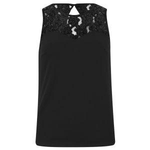 Vero Moda Women's Ori Lace Detail Top - Black