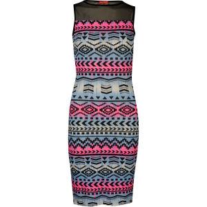 Influence Women's Printed Dress - Blue/Pink