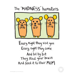 Madness Hamsters von Edward Monkton
