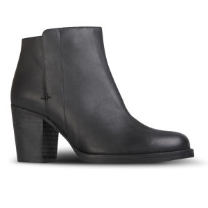 Kurt Geiger Women's Soda Heeled Leather Ankle Boots - Black