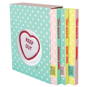 Love Hearts Set of 3 Notebooks: Diary, Address Book and Journal
