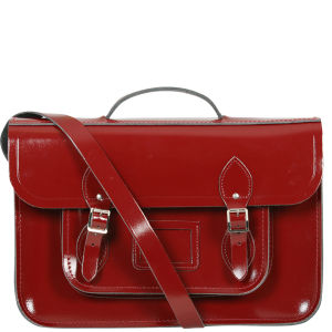Cambridge Satchel Company 15 Inch Leather Satchel - Oxblood Patent
