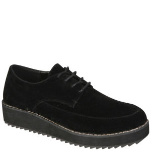 Odeon Women's Lace Up Creepers - Black