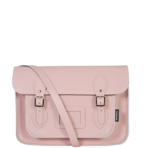 Zatchels 13 Inch Pastel Leather Satchel - Baby Pink