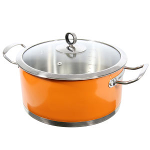 Morphy Richards Accents 24cm Casserole Dish - Orange