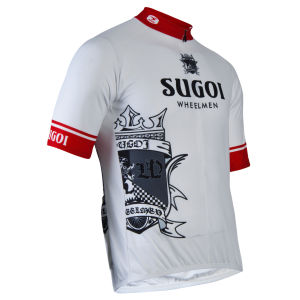 Sugoi Wheelman Jersey - White/Black