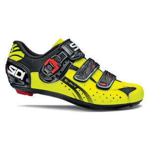 Sidi Genius 5 Fit Carbon Cycling Shoes - Yellow/Black 2014