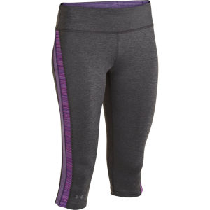 Under Armour Women's Sonic Varsity Capri - Carbon/Purple