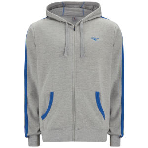 Gola Men's Milford Full Zip Hoody - Grey Marl/Cobalt Blue