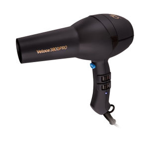 Veloce 3800 Rubberised Hairdryer - Black