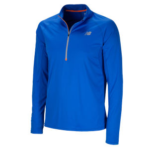 New Balance Men's Impact Half Zip Top - Cobalt