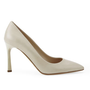 BOSS Black Women's Bonette-C Leather Heeled Court Shoes - Light Beige