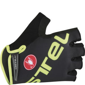 Castelli Tempo V Gloves - Black/Yellow