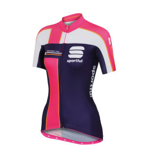 Sportful Gruppetto Women's Short Sleeve Jersey - Purple/Pink