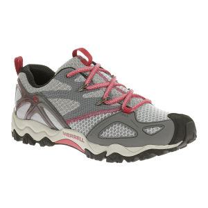 Merrell Women's Grassbow Rider Speed Hiking Shoes - Light Grey/Geranium