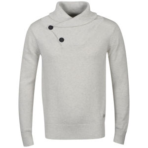 Crosshatch Men's Hubster Jumper - Ecru Marl