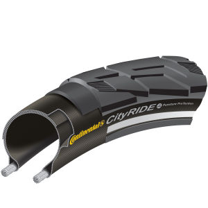 Continental City Ride II Clincher Road Tyre - Black