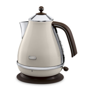 DeLonghi KBOV3001 Icona Vintage Kettle - Beige High Gloss