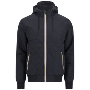 Brave Soul Men's Burt Quilted Jacket - Navy