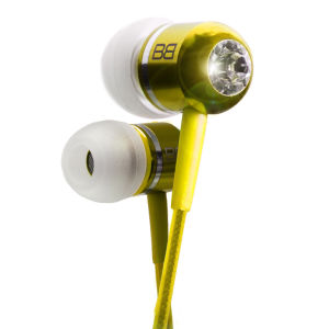 BassBuds Classics Collection Ohrhörer mit Swarovski Element, gelb