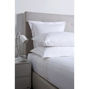 Christy 250 Egyptian Cotton Oxford Square Pillowcase - Platinum