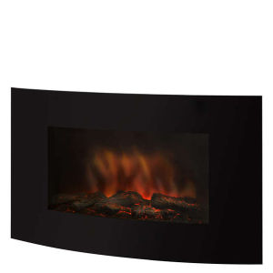 Pifco Wall Mountable Glass Front Fire