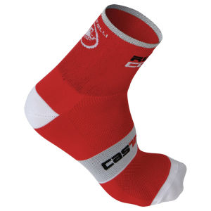 Castelli Rosso Corsa 9 Cycling Socks - Red