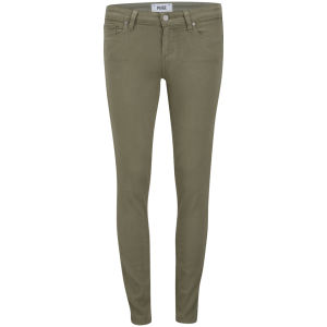 Paige Women's Mid Rise Verdugo Ankle Jeans - Fatique Green