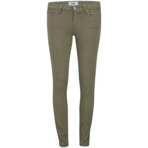 Paige Women's Mid Rise Verdugo Ankle Jeans - Fatique Green