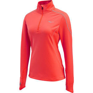 Saucony Women's Omni Drylete Half Zip Running Top - ViziPro/Electric Pink